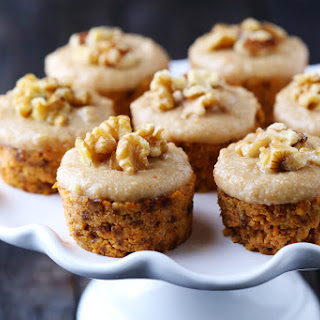 Raw Carrot Cake with Cashew Vanilla Frosting.