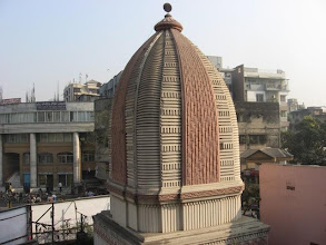 Photo: The peak of the Temple of Prabhu Jagadbandhu Mahaprakash Math built in 2003 - another view