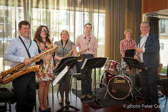 Photo: The University Sax Ensemble, directed by Peter Cook
