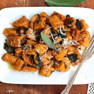 Sweet Potato Gnocchi with Browned Butter Sage Sauce.