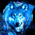 3D Ice Wolf Theme icon