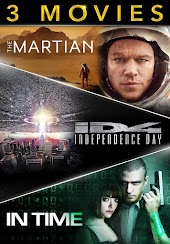 3-Movie Collection: The Martian / Independence Day / In Time