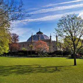 The Dome, Brighton, England by Peter Greenhalgh - Travel Locations Landmarks ( brighton, george iv, pavilion gardens, royal pavilion, dome, riding stables, prince regent, concert hall )