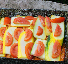 Photo: Cukinia zapiekana z mielonym mięsem i pomidorami (jeszcze przed upieczeniem) 2823