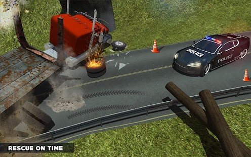 Ambulance Rescue Missions Police Car Driving Games Screenshot