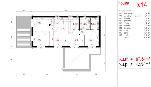 House X14 - Rzut piętra