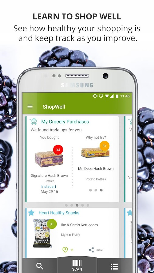 ShopWell Diet, Allergy Scanner- screenshot