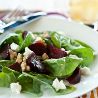 Roasted Beet and Goat Cheese Salad with Sherry-Walnut Vinaigrette Recipe