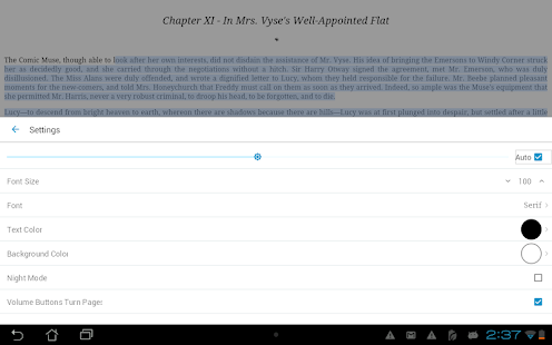 Ebook Reader – Vignette de la capture d'écran