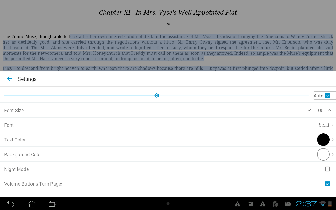 Ebook Reader Screenshot