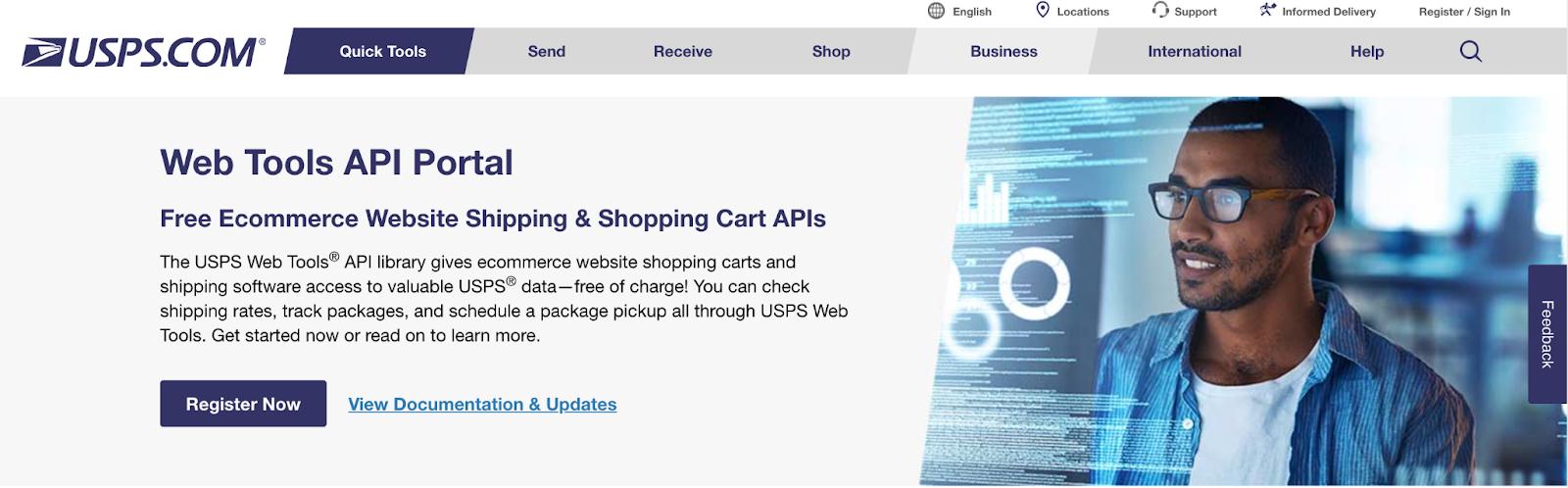USPS screenshot