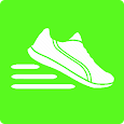 pedometer step count calories icon