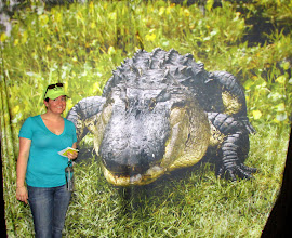 Photo: Kat by the gator.