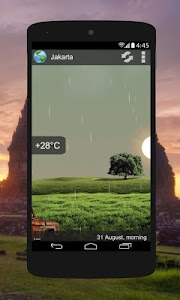 Animated Weather Widget&Clock screenshot 0