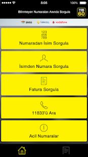 11860 - İsim, Numara, Fatura, Telefon Sorgula - náhled