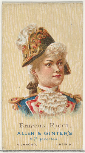 Bertha Ricci, from World's Beauties, Series 2 (N27) for Allen & Ginter Cigarettes