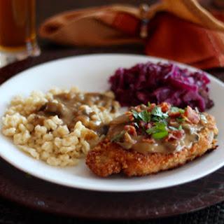Jagerschnitzel with Bacon Mushroom Gravy