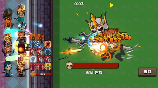 Hero Defence : Idle Characters  άμαξα προς μίσθωση screenshots 2