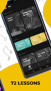 Singing app Vocaberry Mod Apk Vocal training. Karaoke (Unlocked) 2