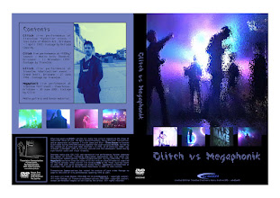 Photo: Master Artwork: XDVDCOM40, Glitch vs. Megaphonik, prototype released Feb 2004. Design by Dennis Remmer.