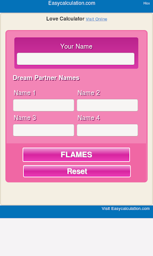 love calculator online flames game