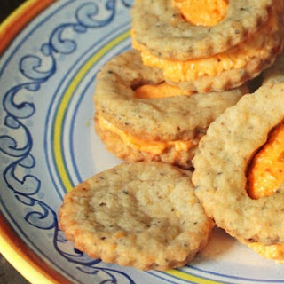 Olive Cracker with Spicy Pimento Cheese