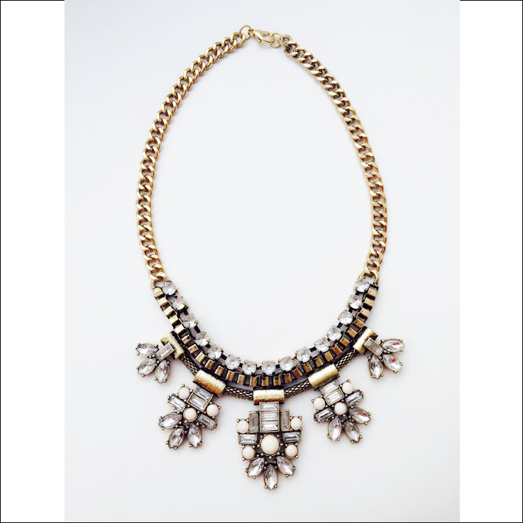 N038 - G. Element Daisy Crystal Necklace by House of LaBelleD.