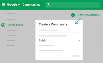 Select elements to make community, specifying its details