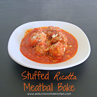 Stuffed Ricotta Meatball Bake.