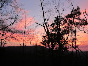 Photo: Sunset on our last night in Alabama