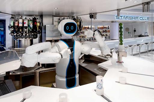 humanoid-bartender.jpg - Meet Rob, the first humanoid robotic bartender at sea, on MSC Virtuosa.