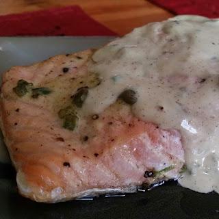 Pressure Cooker Salmon with Creamy Mustard Sauce