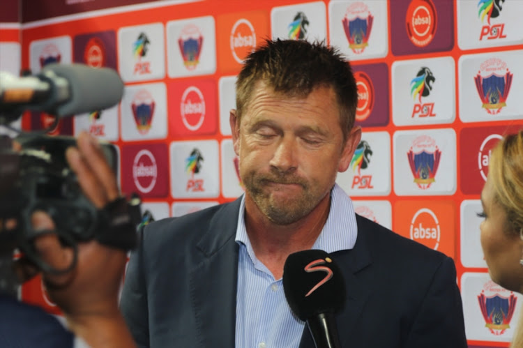 Head Coach Eric Tinkler of Chippa United during the Absa Premiership match between Chippa United and AmaZulu FC at Nelson Mandela Bay Stadium on November 30, 2018 in Port Elizabeth, South Africa.