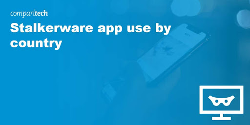 Stalkerware app use by country