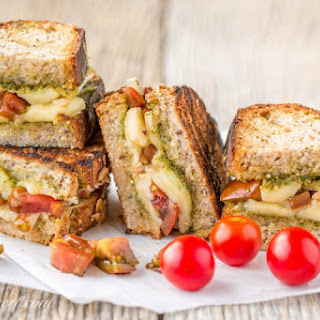 Grilled Cheese with Heirloom Tomatoes and Pesto (garden-to-table)