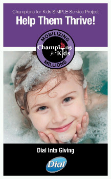 Photo: Champions for Kids has announced this month's SIMPLE Service Project - Help Them Thrive! Dial Into Giving with #DialCFK - The Boy and I have decided to hold a donation drive for children hygiene products to donate to either The Sanctuary House and/or The Rainbow Room!!
