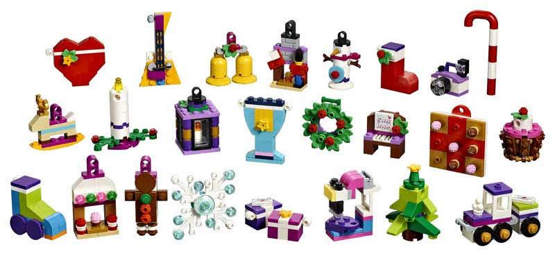 Contenido de Lego® 41353 Calendario de Adviento Lego® Friend