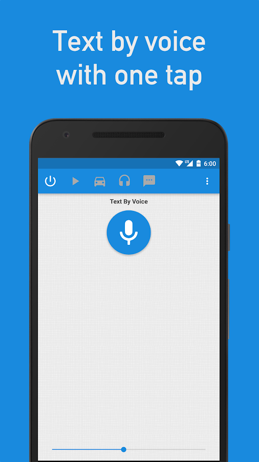 Text by Voice: captura de pantalla