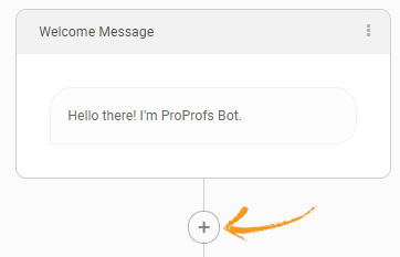 Create next message based on visitors expected response