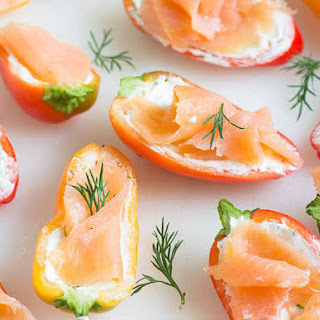 Smoked Salmon Stuffed Sweet Peppers