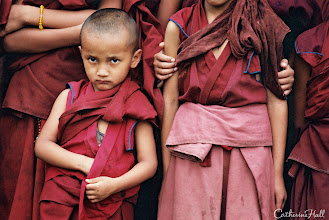Photo: Tibetan Refugee Monk, Age 4. In another life, my photography sojourn to India brought me to a temple bordering India and Nepal – it was one of the most memorable trips of my life. The Tibetan refugee monks were so gracious and kind to me.. read more on http://www.catherinehall.net/blog/?p=3238 Copyright: Catherine Hall Studios.