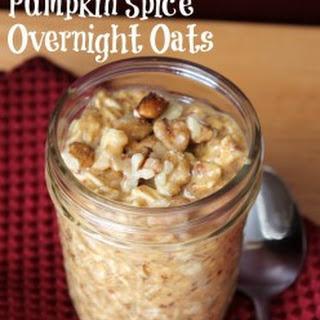 Pumpkin Spice Overnight Oats.