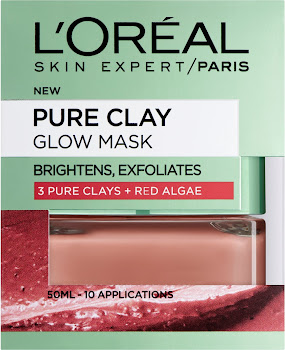 L'Oreal Paris Pure Clay and Red Algae Glow Mask - 50ml