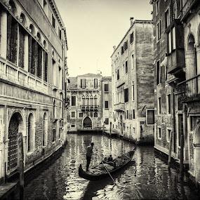 Venice  by Fernando Ale - Black & White Buildings & Architecture ( venice, gondola )