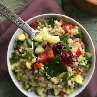 Israeli Couscous Salad with Lemon Dressing.