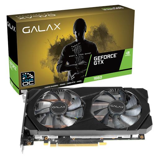 Card màn hình Galax GTX 1660 (1-Click OC) 6GB GDDR5 (60SRH7DSY91C)