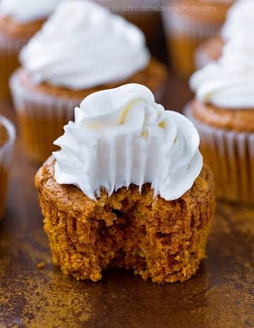 Pumpkin Cupcakes - With Cream Cheese Frosting!