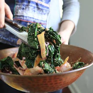 Sauteed Kale and Quinoa Salad with Orange Vinaigrette.
