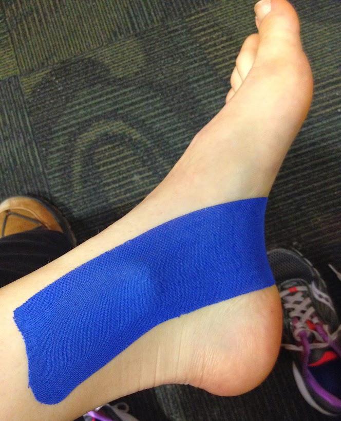 KT tape inside leg half