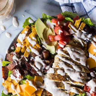 Southwest Grilled Chicken Salad with Candied Bacon.